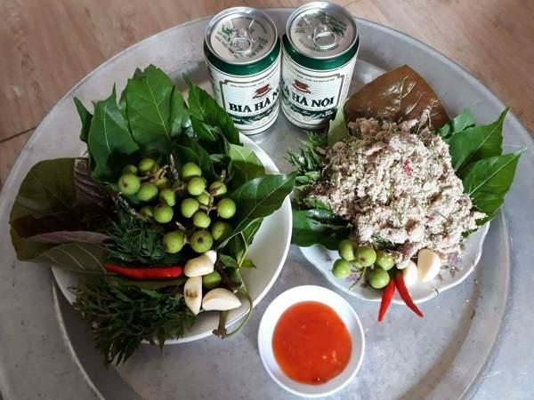 Thịt chua của người Thái ở Nghệ An.