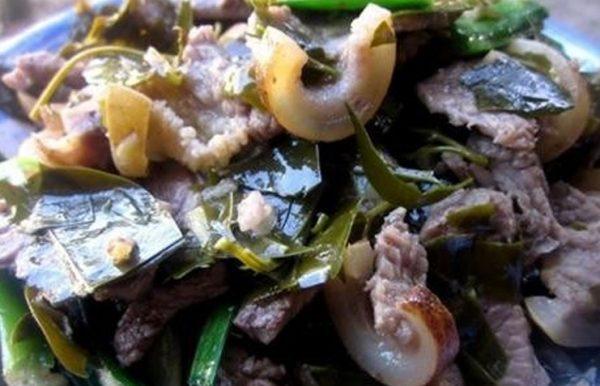 thịt trâu nấu lá lồm