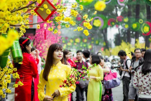 Khu hàng tết hải thượng lãn ông -địa điểm chụp ảnh Tết đẹp ở Sài Gòn