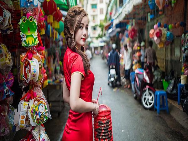 Khu chợ hàng mã Quận 5 -địa điểm chụp ảnh Tết đẹp ở Sài Gòn