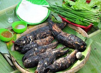 Cá lóc nướng trui món ngon ở Long An