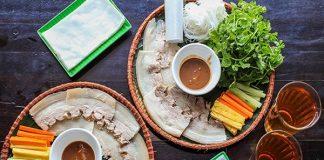 quán bánh tráng cuốn thịt heo đà nẵng nổi tiếng